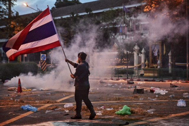 Over 100 charged with insulting king in one year of Thai protests: tally