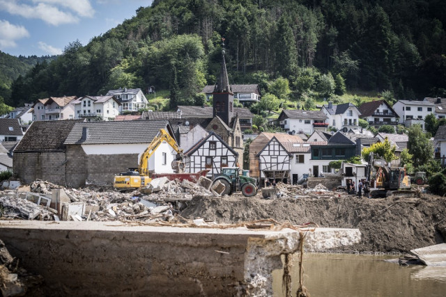 After historic floods, Germany grapples with mountains of debris