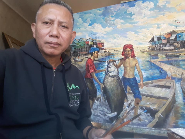 Cambodian Artist Promoting Khmer Culture in Ukraine through Painting