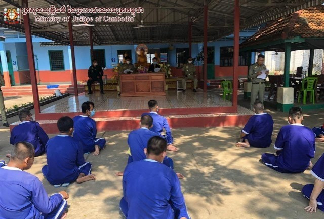Over 70 Percent of Inmates in Cambodia Are Vaccinated for COVID-19, the Authorities Say