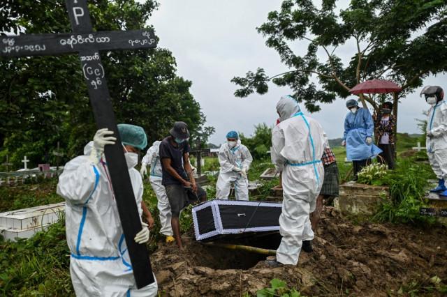 Covid stigma keeps Myanmar medical volunteers locked out of home