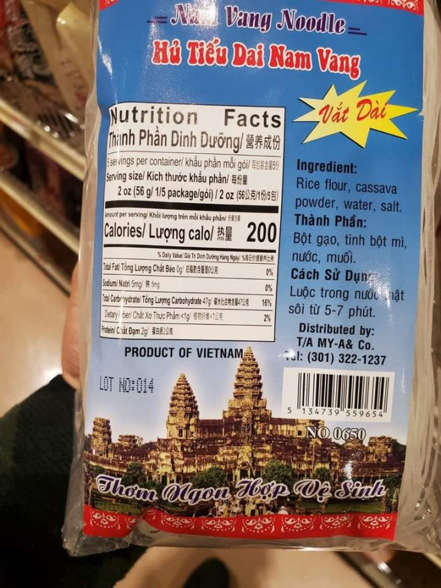 Cambodia Warns to Take Action Against the Company Selling Noodle with Angkor Wat Logo