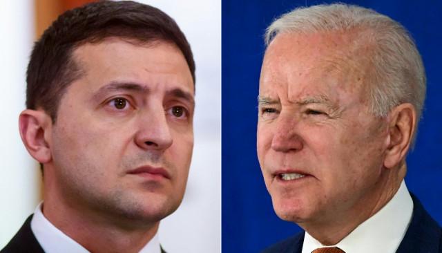 Ukraine president seeks Biden support against Russia after Afghan war