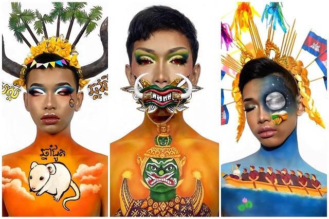 Hun Sokheang Turns Makeup into Visual Art