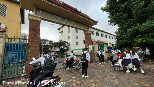 More than 200 Schools in Phnom Penh Reopened Today after Several Months of Closure