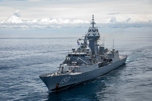 An Australian Navy Frigate Comes to Sihanoukville Port to Bolster Ties with Cambodia