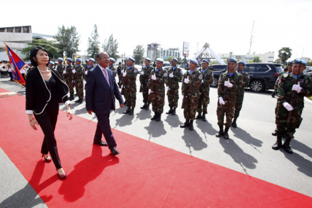 Cambodia dispatches nearly 300 peacekeepers to Mali