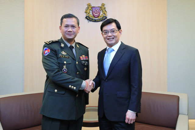 Hun Manet discusses bilateral ties and regional security issues with Singapore government leaders