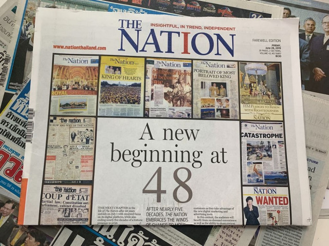 Thailand's English daily giant The Nation ends print edition