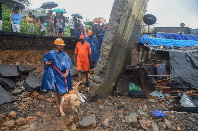 Collapsed wall kills 22 in Mumbai monsoon chaos