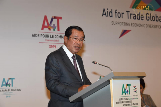 Speaking of Cambodia's success, Hun Sen urges WTO members to help poor countries transition into the digital economy