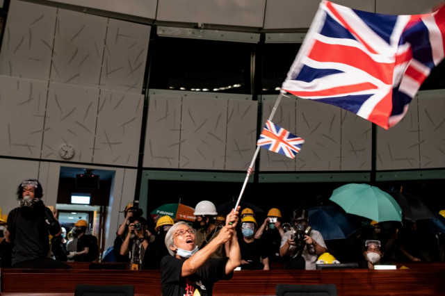 China and Britain wage war of words over Hong Kong