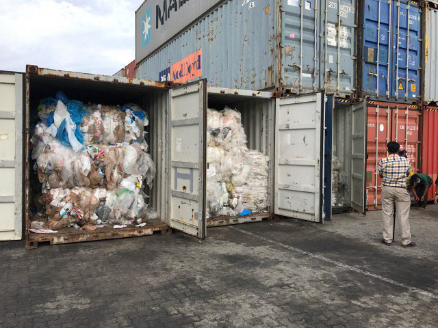 Containers filled with plastic waste discovered at Cambodian port