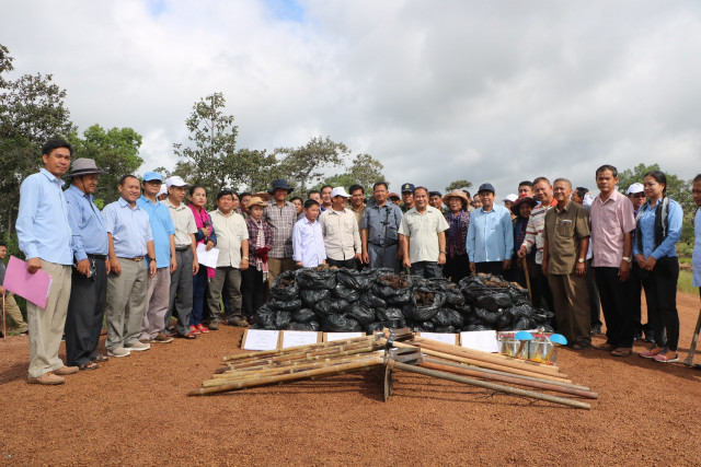 Mass planting of sugar palm seedlings along Lao border