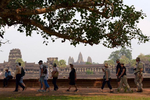 Cambodia sees drop in foreign tourists to famed Angkor