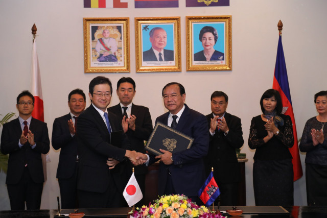 Japan grants $25 million for wastewater treatment plan in Phnom Penh