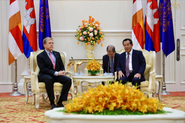 Cambodia's PM, U.S. Ambassador discuss strengthening bilateral ties