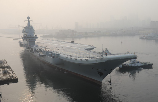China confirms aircraft carrier sailed through Taiwan Strait