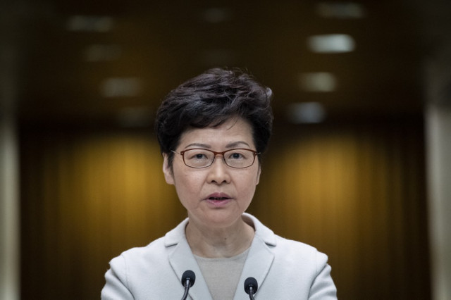 Hong Kong leader admits voter 'unhappiness', offers no concessions