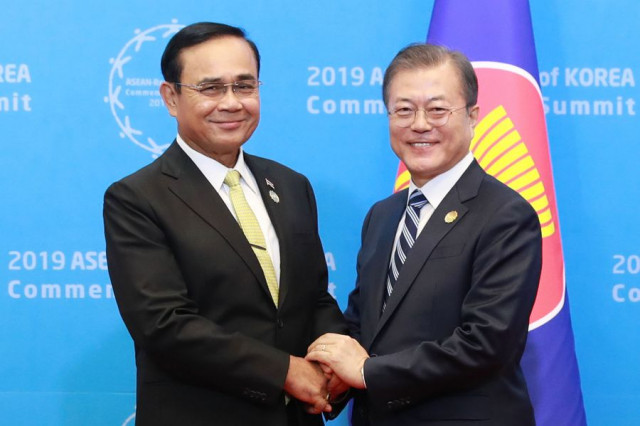 S.Korea, ASEAN clamor for free trade, anti-protectionism for regional prosperity