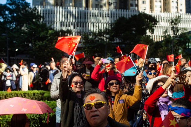 Hong Kong protesters aim for big turnout at rare sanctioned march
