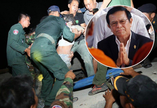 Kem Sokha Sends Condolence Message to Victim's families in Collapsed Kep Building