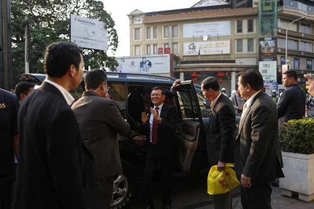 Evidence Requested by Kem Sokha's Lawyer Shown at the Trial