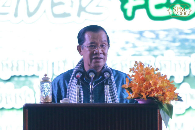 Cambodian PM congratulates China on progress in containing COVID-19 spread