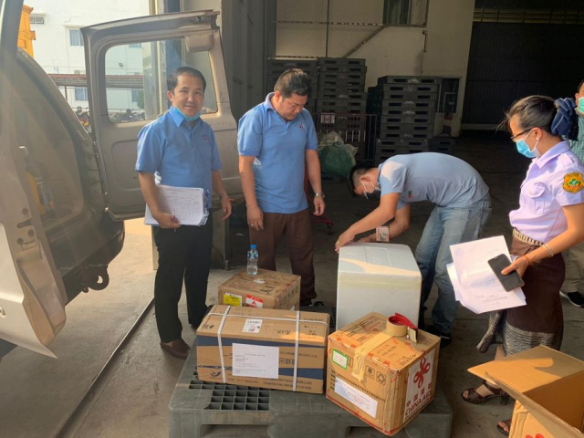 China's COVID-19 testing kits arrive in Laos