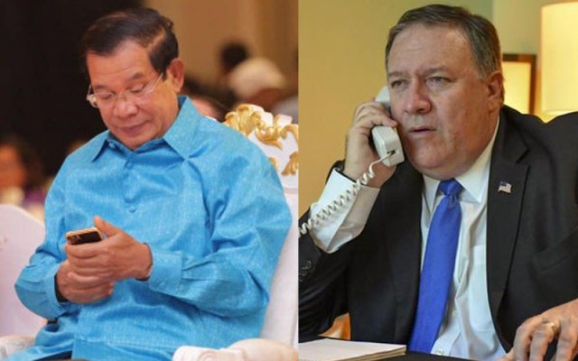 Hun Sen and Pompeo Express Gratitude for Cooperation in Face of COVID-19
