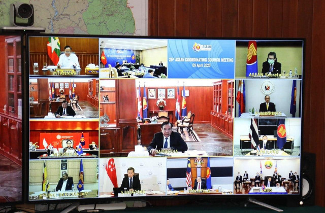 ASEAN Foreign Ministers Hold a Video Conference on COVID-19