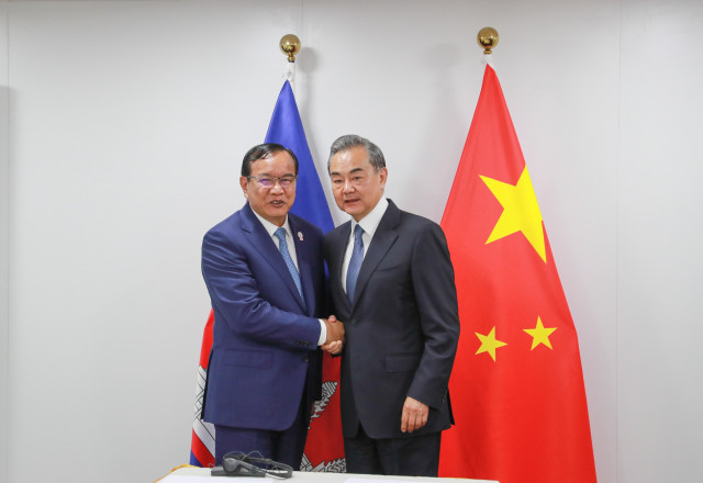 Cambodian and Chinese Foreign Ministers Thank Each Other for Assistance