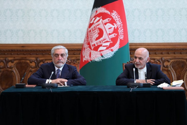 Afghan President Ghani, rival Abdullah ink deal to end political deadlock