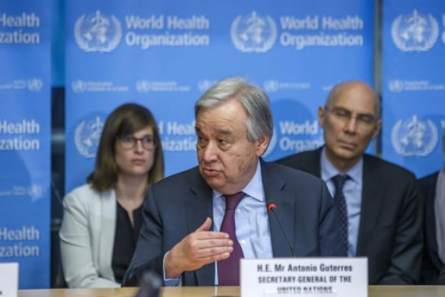 UN chief calls for attention to nuclear, cyberspace security amid pandemic