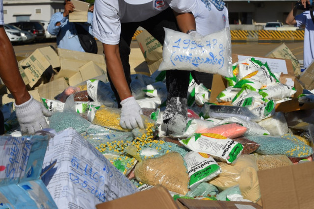Cambodia arrests 8,864 suspects, seizing 259 kg of drugs in 5 months