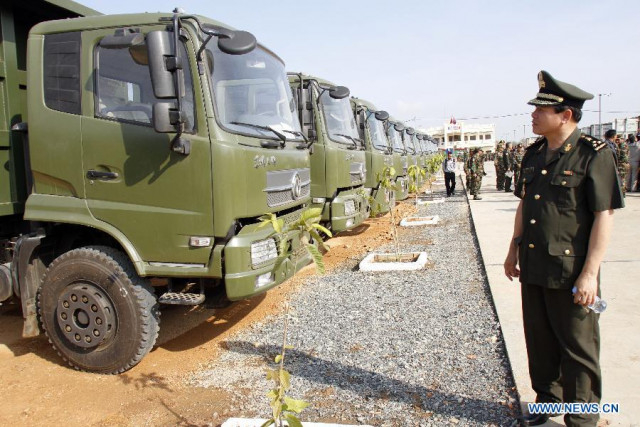 Cambodia Purchases Military Trucks from China
