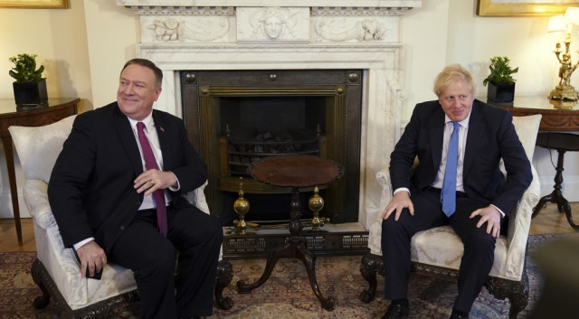 Pompeo to meet UK PM in heat of China standoff