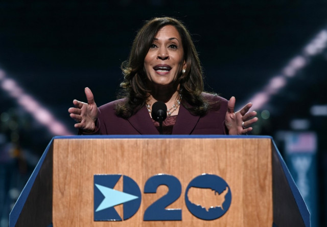 Harris, making history as VP pick, condemns Trump's leadership 'failure'
