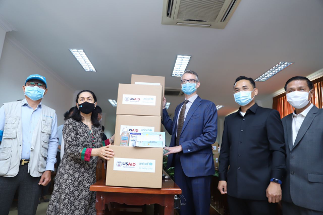 USAID Provides Hygiene Supplies to Help Schools Deal with COVID-19 as They Reopen