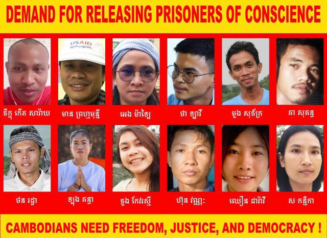 U.S. State Department Calls on Cambodia to Release Jailed Activists