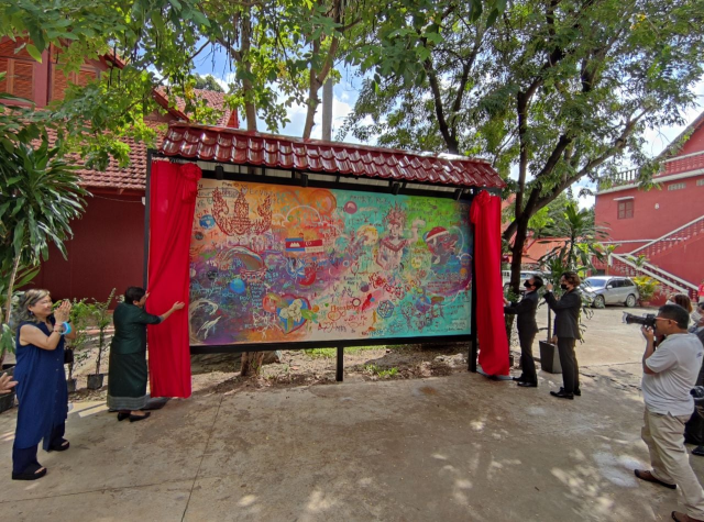 A Mural Symbolizing Harmony and Peace Is Unveiled at RUFA