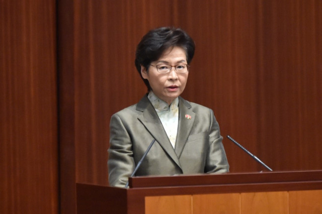 Hong Kong leader vows to restore political order in key speech