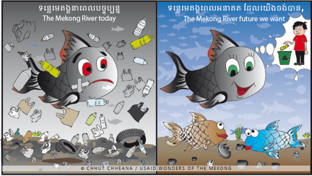 The waste from disposable plastics is a major threat to the health of the Mekong River