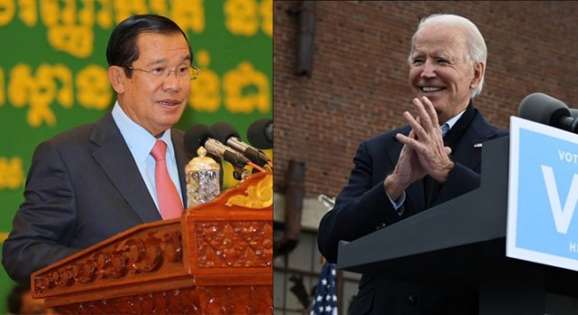 Hun Sen Congratulates U.S. President-Elect Joe Biden on Winning the U.S. Elections
