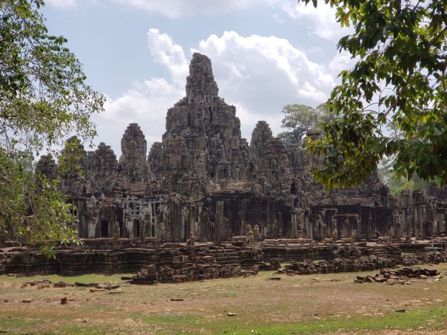 The Bayon Temple Smiles a Bit during this New Year's Eve