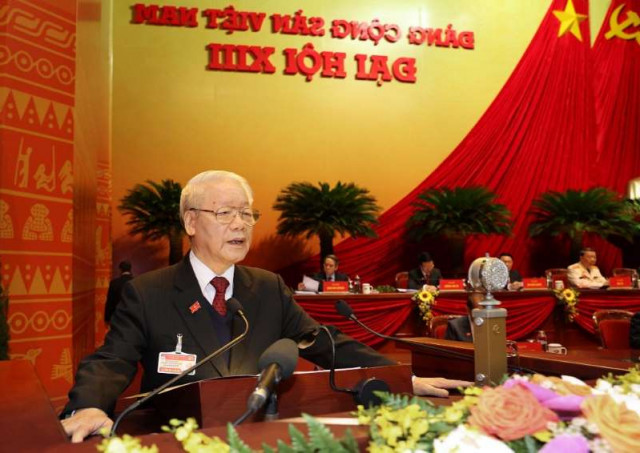 Vietnam re-elects party leader Trong after secretive congress