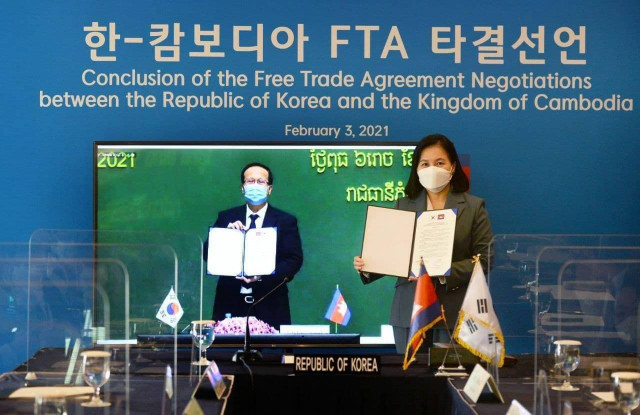 Cambodia and South Korea Complete Negotiations on a Free Trade Agreement