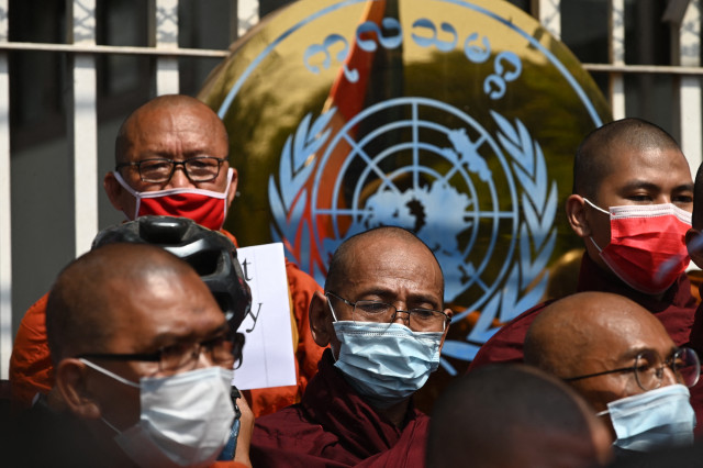 UN condemns Myanmar junta after two killed in anti-coup unrest