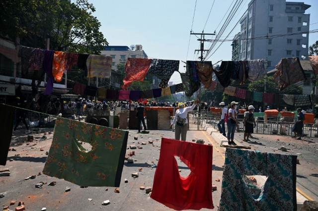 Myanmar protesters gather after general strike call