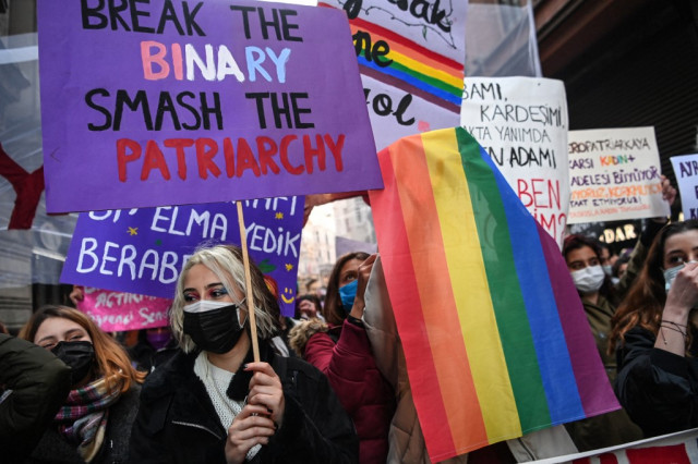 Thousands defy virus restrictions for Women's Day rallies
